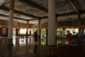 The main hall of the temple, where most of our classes took place was a beautiful place, and is where they took lunch at 11:15am.