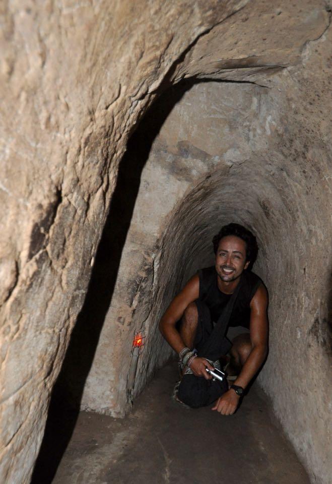 Inside the Cu Chi tunnels. Photo by Sofia van den Beuken