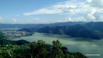 Pokhara lake from Sarangkot