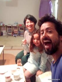 Hamide, Umay and myself