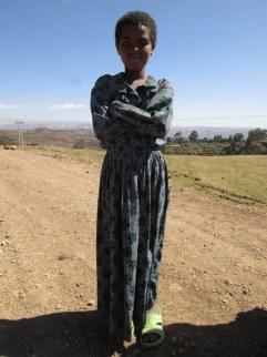 A beautiful village girl