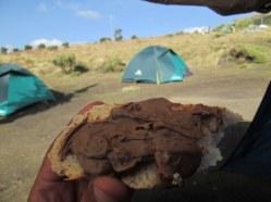 My tent and snack :)