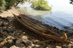 Traditional boat lake Tana