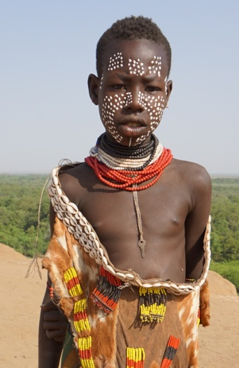 A young Karo boy