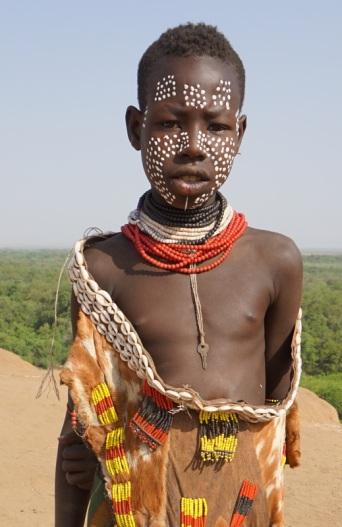 A young Karo boy