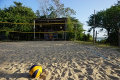 I loved playing beach volley every afternoon!