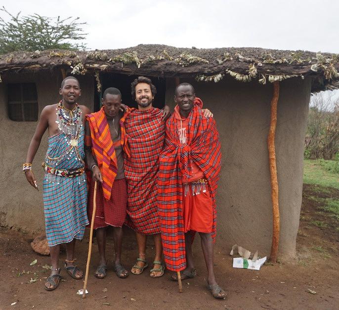 Maasai village house