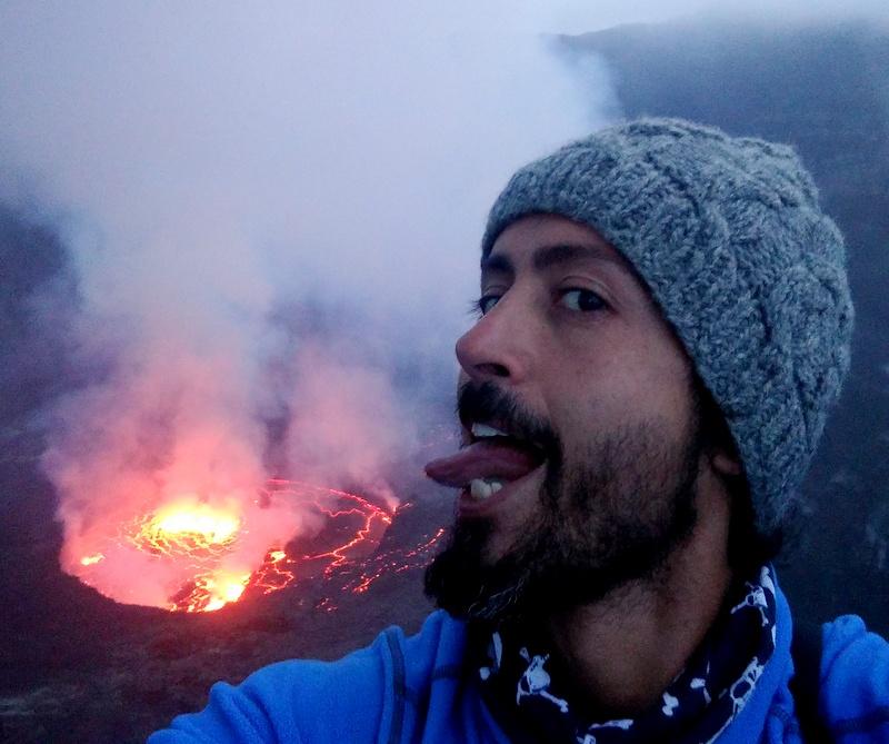 Active volcano Nyiragongo